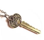 Necklace Key Square Gold - Budget Line