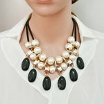 Big Fashion Pearls Set Necklace