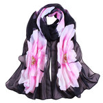 Floral Shawl Black Pink