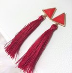 Marble Dangle Red
