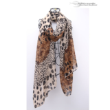 Lady Scarf Brown Leopard