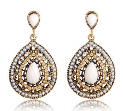 White Gipsy Earrings