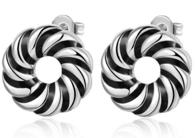 Silver Donut Earrings