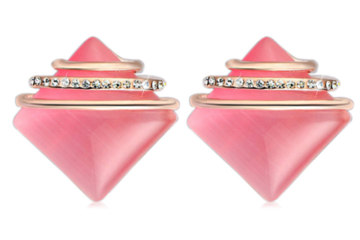 Perfect Square Pink Earrings