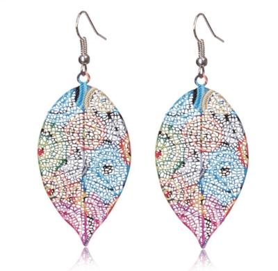 Coloured Leaf Earrings