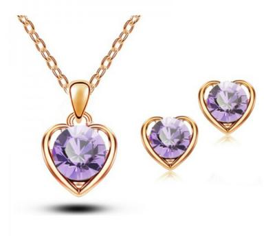 Heart Of Gold Set Purple
