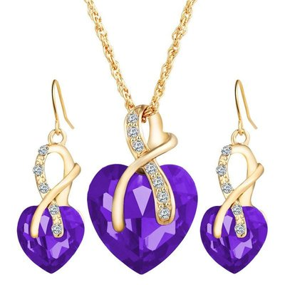 Glamour Heart Of Gold Set Purple