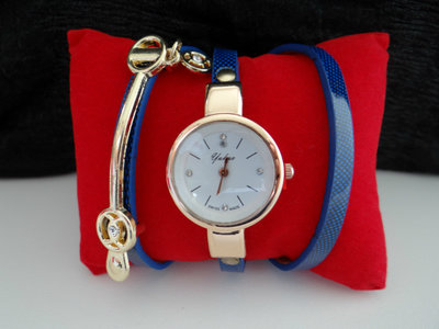 Luxe Wrapping Watch Blue