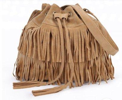 Faux Retro Suede Womens Bag Kaki