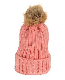 Cute Fuzzy Ball Pink Cap