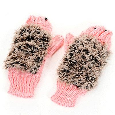 Hedgehog Full Fingergloves Pink