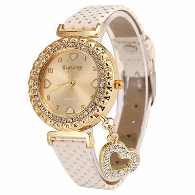 Watch Love Heart Gold White