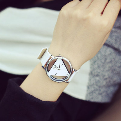 Watch Triangle Dial White