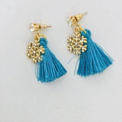 Earrings Brush Gold Meets Blue