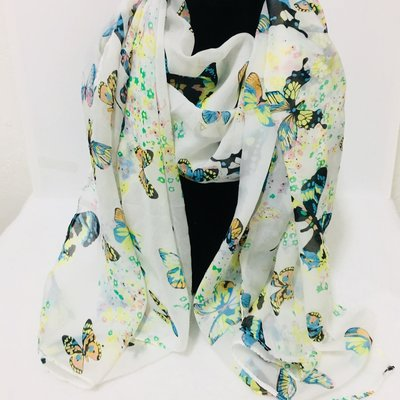 Butterfly Shawl White