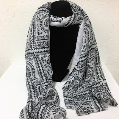 Awesome Evening Shawl Nice Black & Ivory