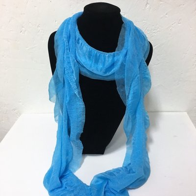 Evening Shawl Shinning Blue