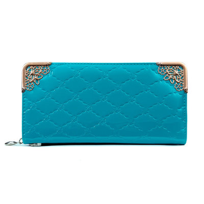 Lady Wallet Clutch Style Blue Gold