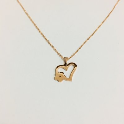 Necklace Valentines Heart Rosé Gold