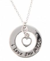 Necklace Nigoja Love Silver Heart Round