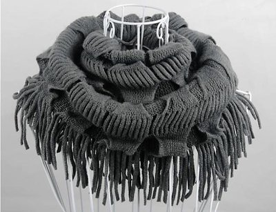 Amazing Shawl Neck Wrap Grey