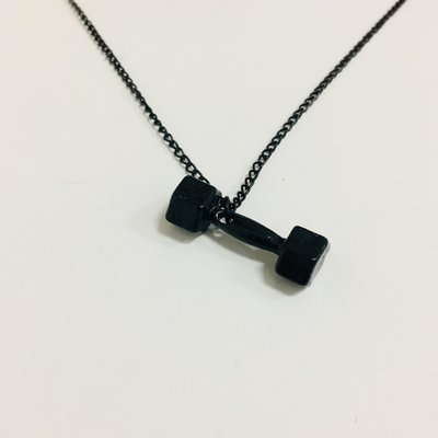 Necklace Weightlifter Black