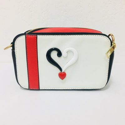 A Nice White Black Love Shoulder Bag
