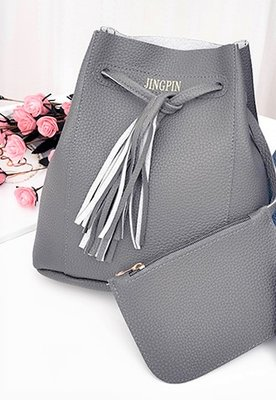 B Nice Elegant Bag Set Grey 2 pcs