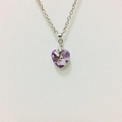 Necklace Heart Purple