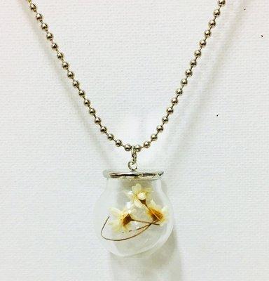 Necklace Glass Daisy