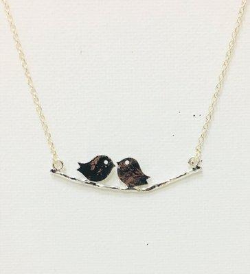 Necklace Silver Birds