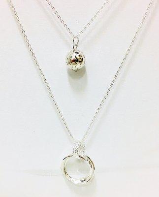 Necklace Tripple Round Silver