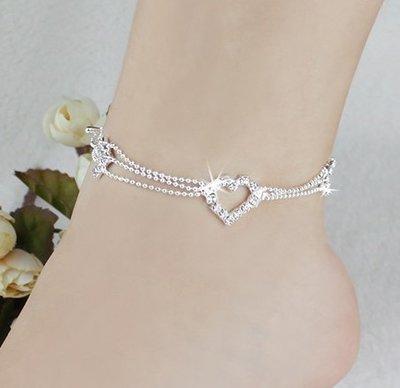 Ankle Bracelet Charm Silver