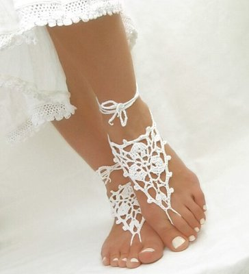 Foot Charm Set White
