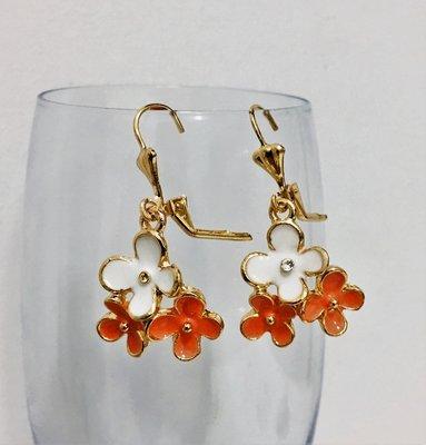 A Happy Flower Set White Orange