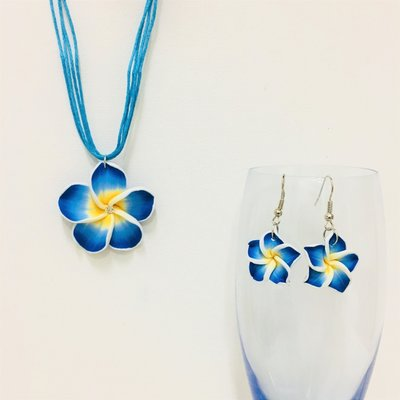 Hawaiian Flower Set Blue