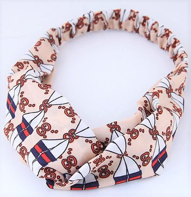 Hair Band Decorate Beige