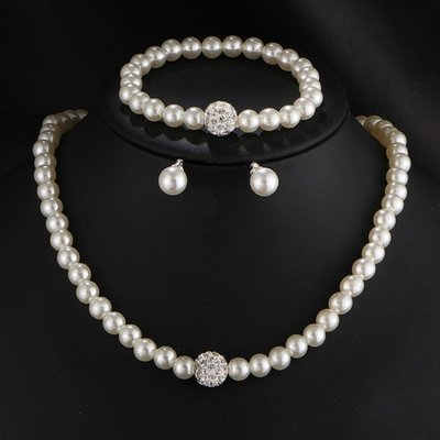 Silver Pearls Set