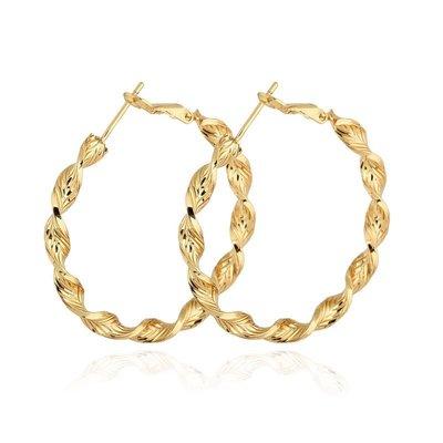 Swirl Hoops Gold Medium