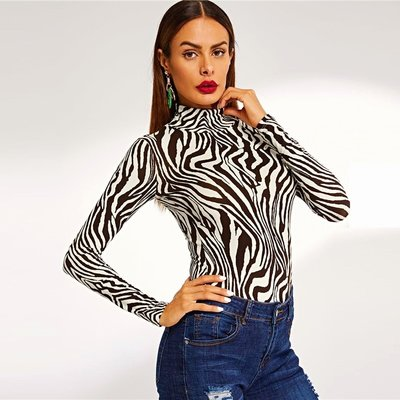 Zebra Neck Dark Brown L