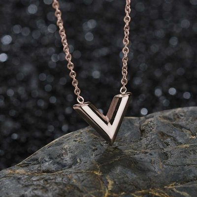 LV Necklace Silver