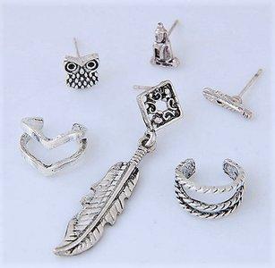 Earrings Set Silver Fantasy Nigoja