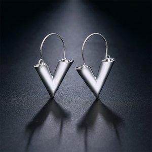 LV Earrings Silver