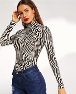 Zebra Neck Dark Brown M