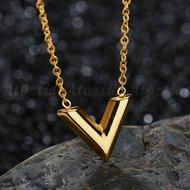LV Necklace Gold